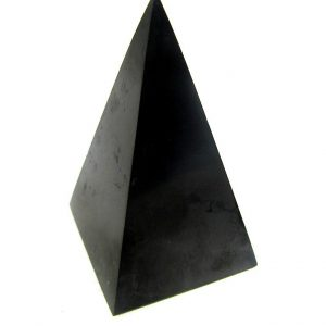 Shungite Tall  Pyramid 3cm Polished