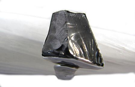 Elite Shungite Ring beaten silver