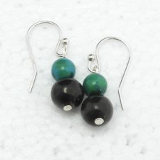 Shungite and Chrysacolla Earrings