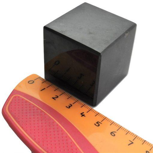 Polished shungite 4 cm Cube