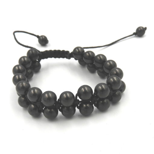 Shungite Double row Shamballa Bracelet