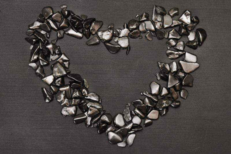 Shungite Heart