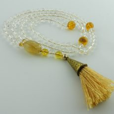 Clear Quartz and Citrine Mala Beads