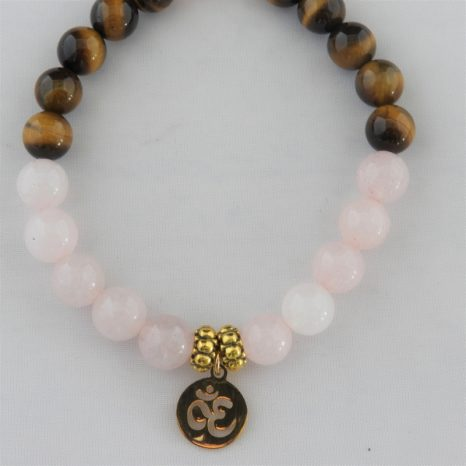 Rose Quartz & Tigers Eye Bracelet