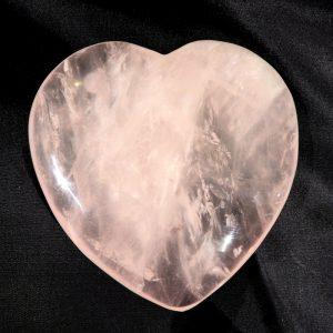 Large Polished Rose Quartz Heart