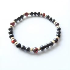 Shungite and Garnet Bracelet