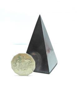 Tall Shungite 4cm Polished Pyramid