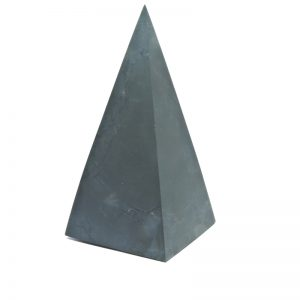 Tall Shungite Pyramid 6cm Unpolished