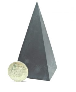 Tall Shungite Unpolished 6cm Pyramid