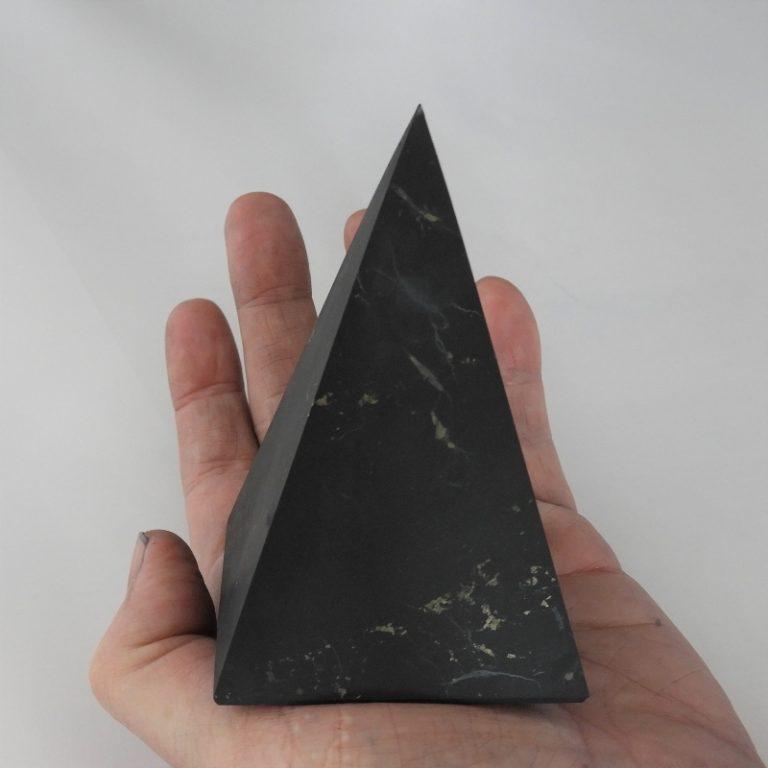 Shungite Unpolished 6cm Pyramid