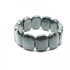 Polished Oval Shungite Bracelet