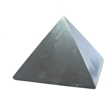 Shungite 8cm polished Pyramid