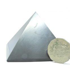Shungite 8cm polished Pyramid