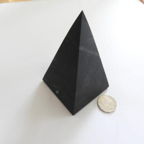 Unpolished 9Cm Shungite Pyramid