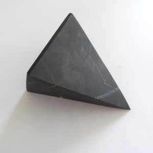 Unpolished 9Cm Shungite Pyramid