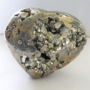 Extra Large Polished Pyrite Heart