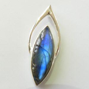 Sterling Silver Labradorite Pendant