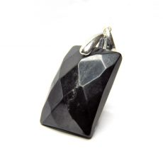 Shungite Facetted Pendant