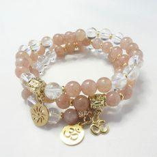 Mala Stack Strawberry Quartz Bracelet