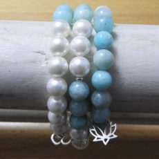 Amazonite Mala Stack Bracelet