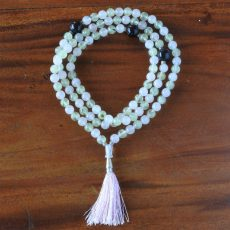 Rose Quartz and Prehnite Mala