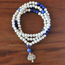 Lapis and Wood Mala