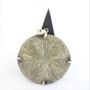 Sterling Silver Pyrite Sun Pendant