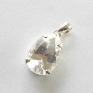 Sterling Silver Clear Quartz Pendant