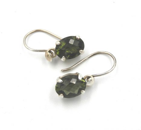Facetted Moldavite Earrings