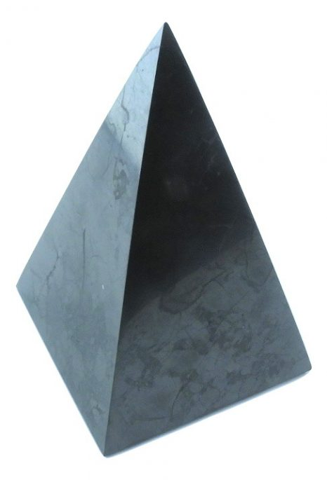 Polished Shungite Pyramid 9cm