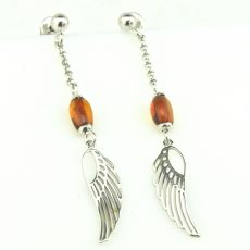 Amber Wing Earrings