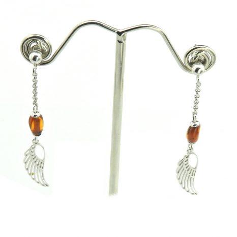 Amber Wing Earrings