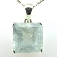 Square Aquamarine Pendant