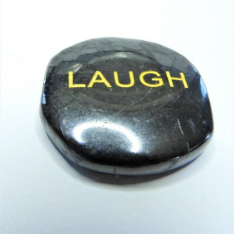 Shungite Word Stones - Laugh
