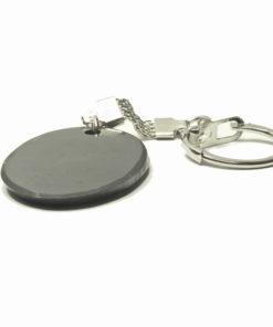 Shungite Oval Key Ring