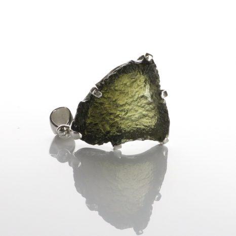 Moldavite Claw Set Pendant