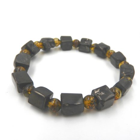 Elite Shungite and Green Amber Bracelet