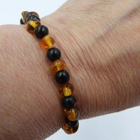 Shungite and Amber 6mm Bracelet