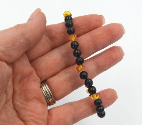 Shungite and Amber 6mm Bracelet