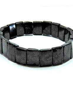 Small Oblong Plate Shungite Bracelet