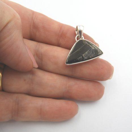 Elite Shungite Triangle Sterling Silver Pendant