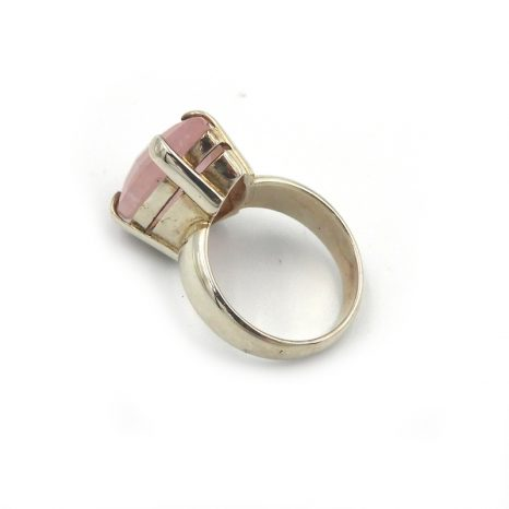 Morganite Sterling Silver Ring