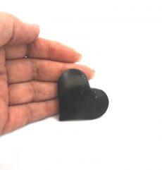 Polished Shungite Heart Palmstone