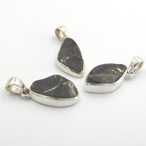 Sterling Silver Freeform Elite Shungite Pendant