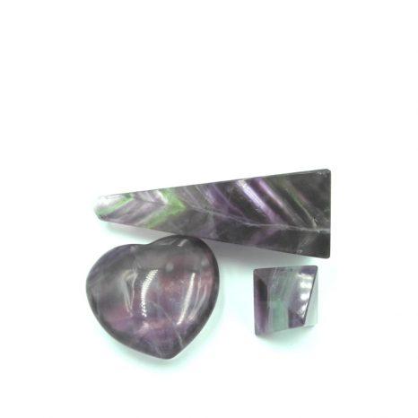 Fluorite and Shungite Set