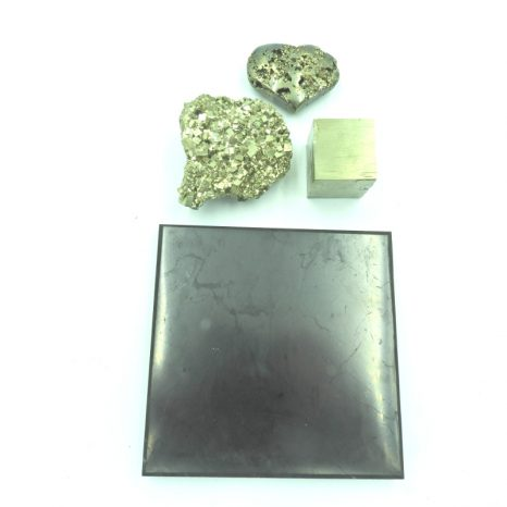 Shungite and Pyrite Set