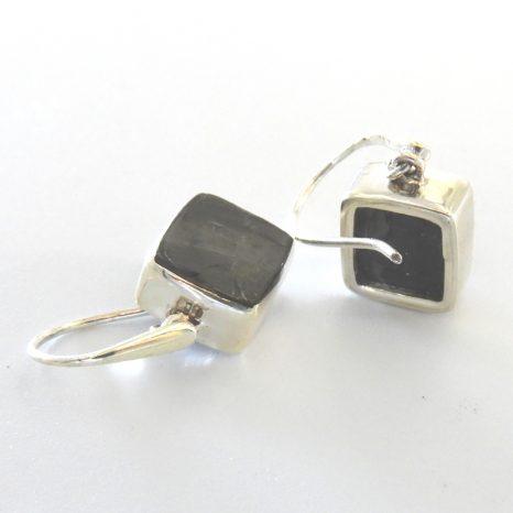 Large Elite Shungite Sterling Silver Earrinfs