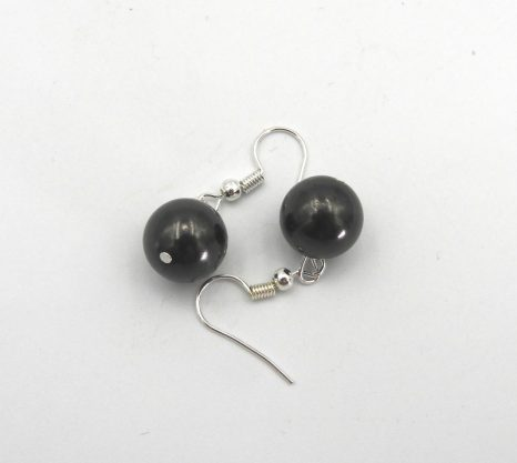 12mm Bead Shungite Earrings