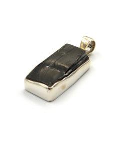 Sterling Silver Elite Shungite Oblong Pendant