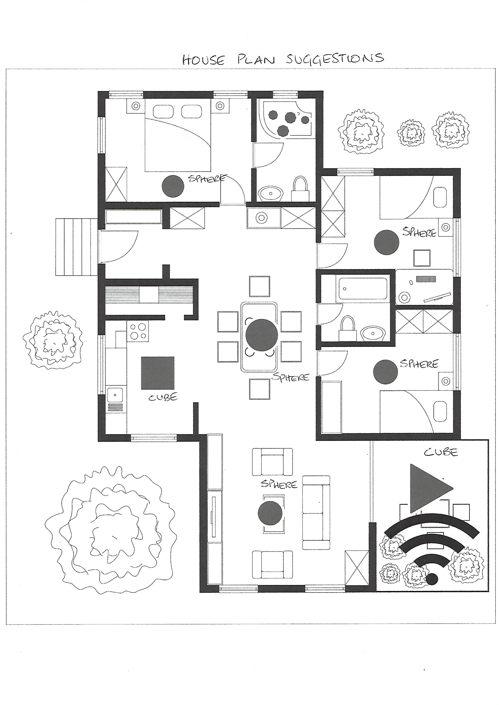 Labelled House Plan of Shungite